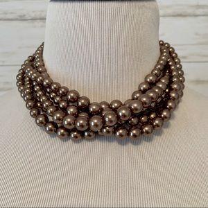Lia Sophia Faux Layered Pearl Necklace